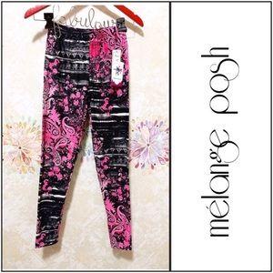 Pink & Black Pattern Leggings